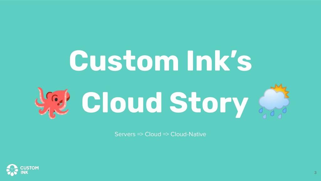 🐙 Cloud Story 🌦 Custom Ink's Servers => Cloud =...