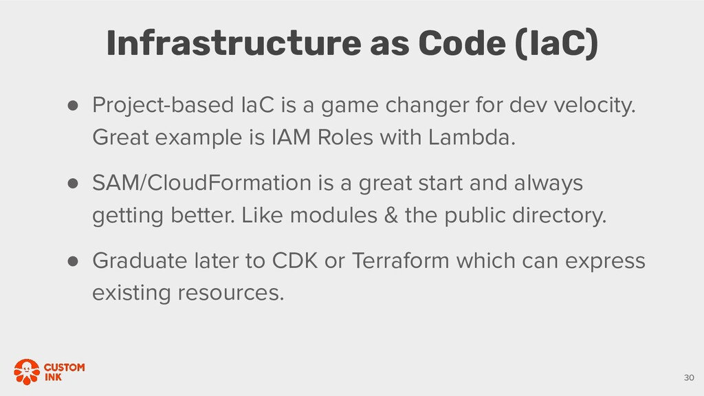 Infrastructure as Code (IaC) 30 ● Project-based...