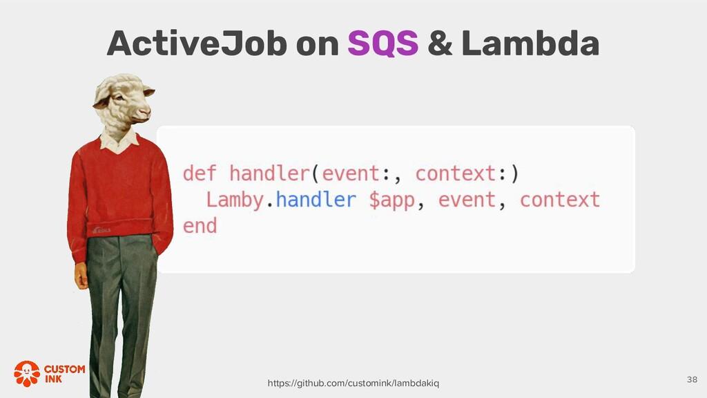 ActiveJob on SQS & Lambda 38 https://github.com...