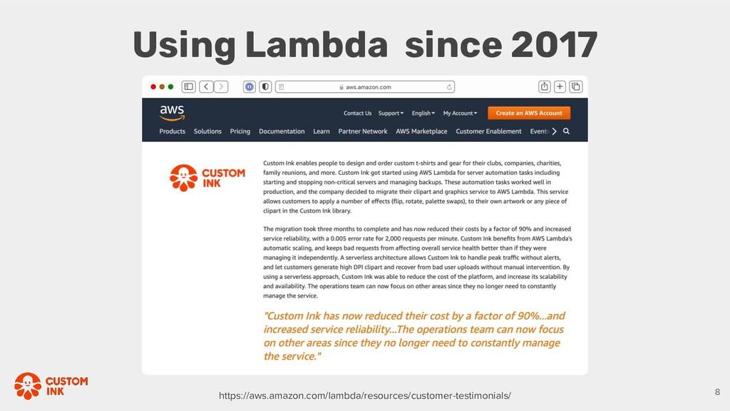 Using Lambda since 2017 https://aws.amazon.com/...