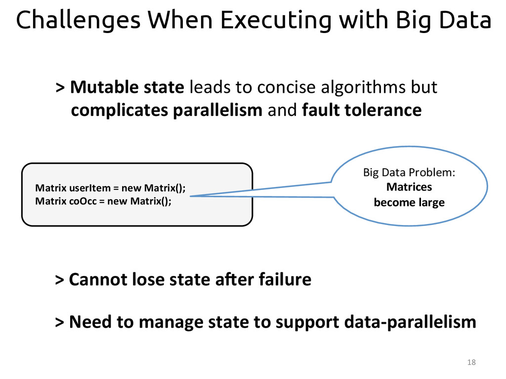 18  Challenges When Executing with Big Data...