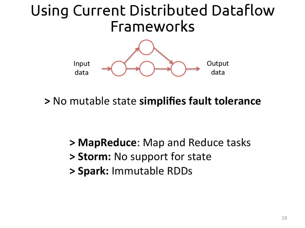 """19  Using Current Distributed Data""""ow Framew..."""
