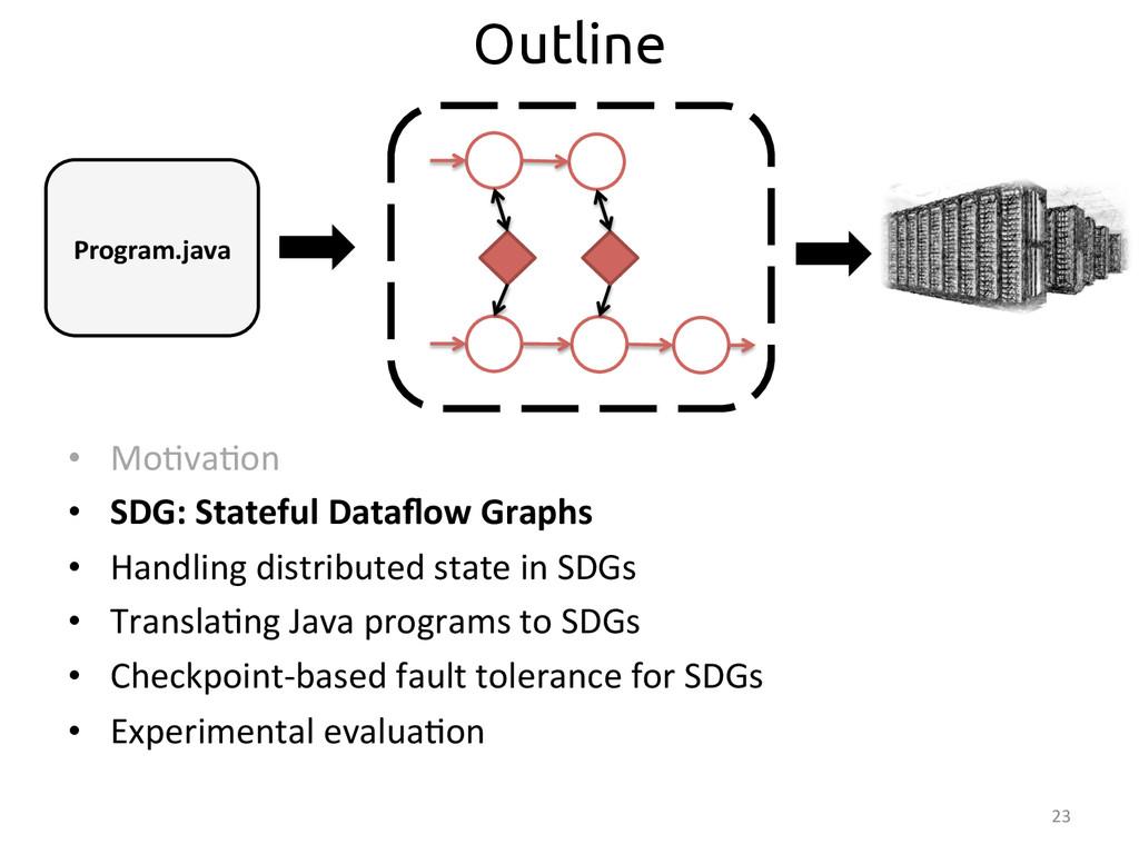 • Mo:va:on  • SDG: Stateful Dataflow...