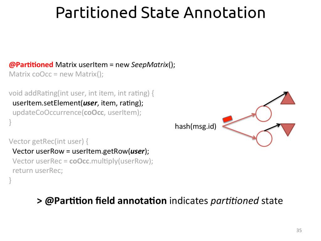 35  @Par>>oned Matrix userItem = ...