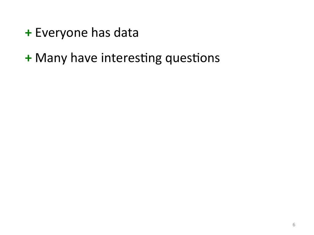 6  + Everyone has data  + Man...