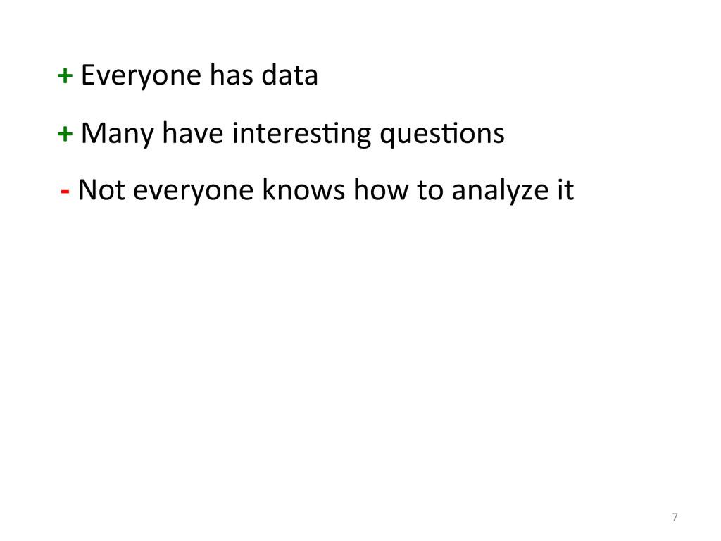 7  + Everyone has data  + Man...