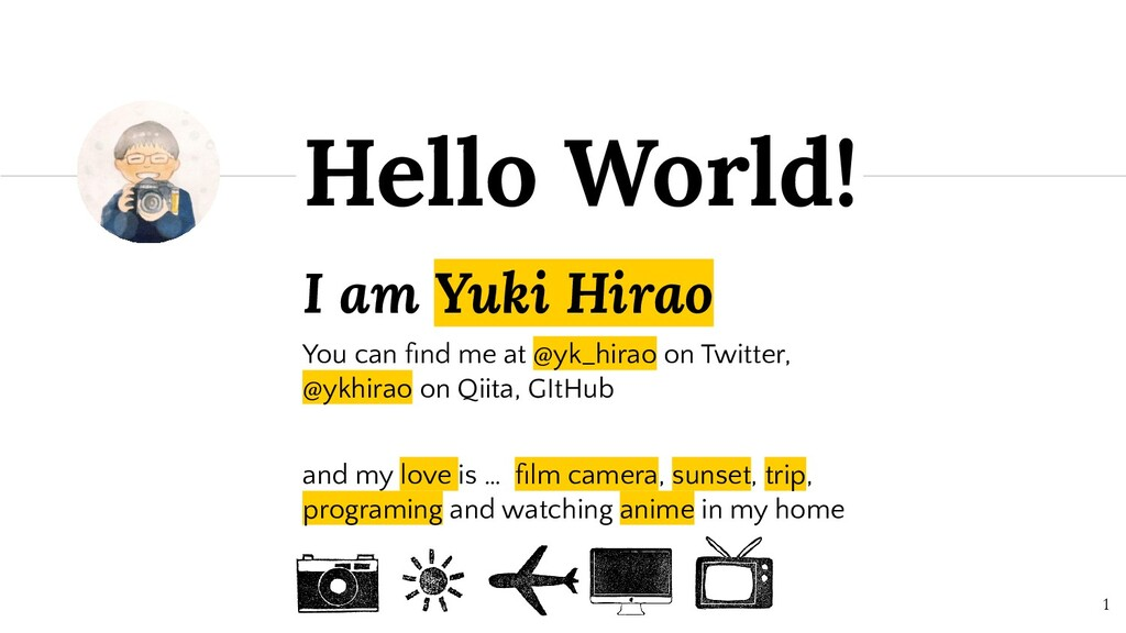 I am Yuki Hirao You can find me at @yk_hirao on ...