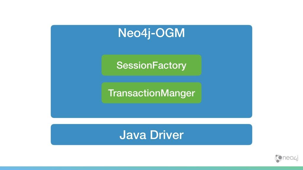Java Driver Neo4j-OGM TransactionManger Session...