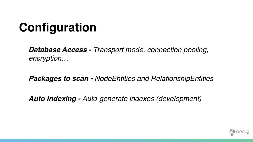 Configuration Database Access - Transport mode, ...