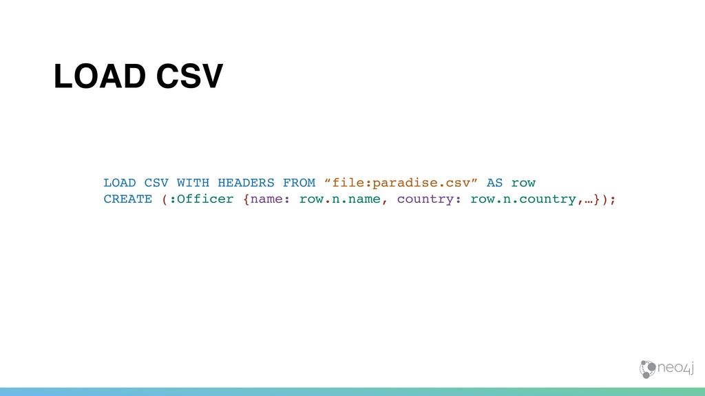 """LOAD CSV LOAD CSV WITH HEADERS FROM """"file:parad..."""