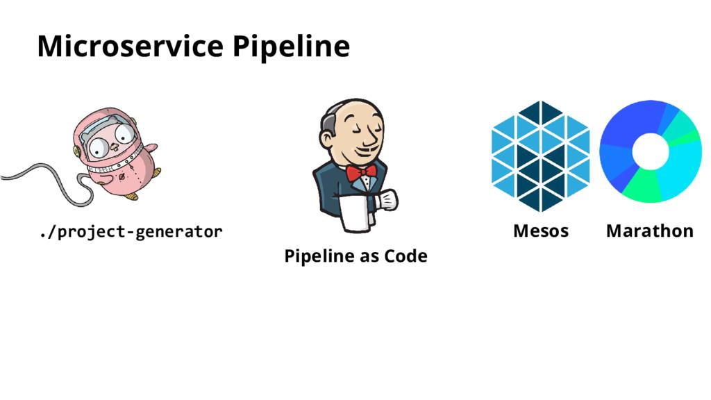 Microservice Pipeline ./project-generator Pipel...