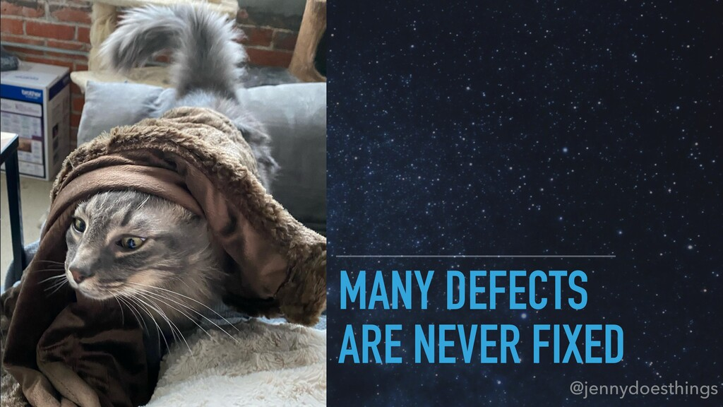 MANY DEFECTS ARE NEVER FIXED @jennydoesthings