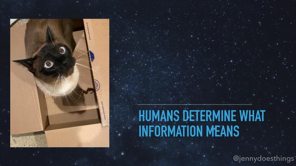 HUMANS DETERMINE WHAT INFORMATION MEANS @jennyd...