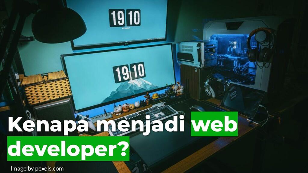 Kenapa menjadi web developer? Image by pexels.c...