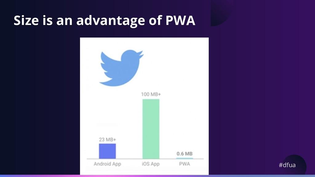 #dfua Size is an advantage of PWA