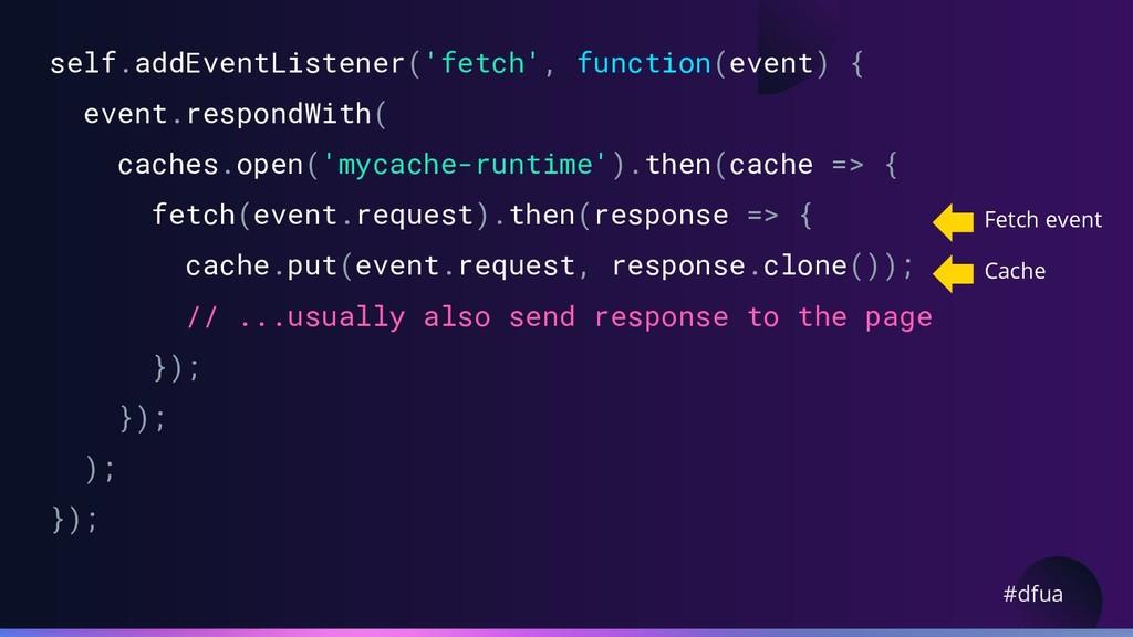 #dfua self.addEventListener('fetch', function(e...