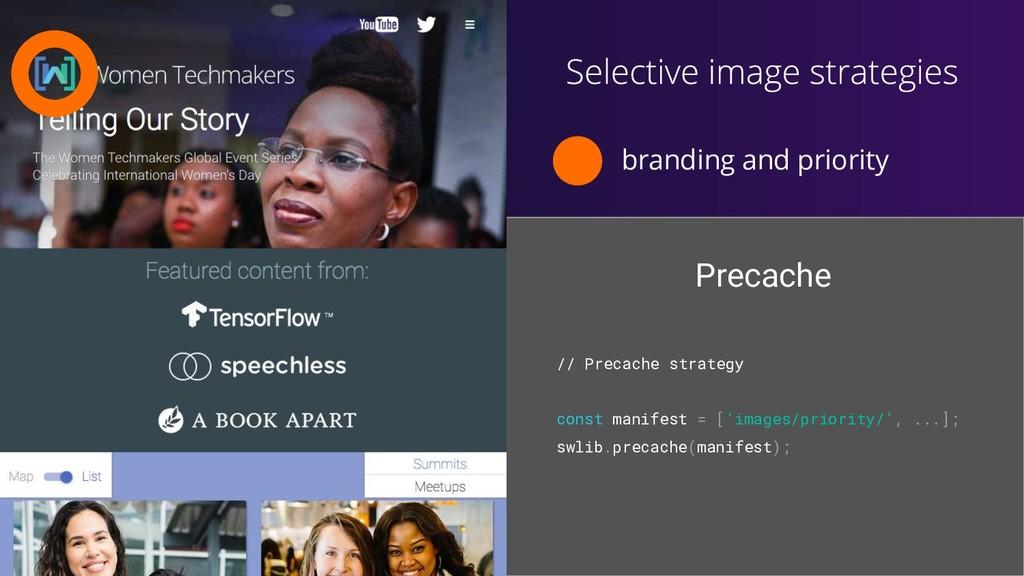 branding and priority // Precache strategy cons...