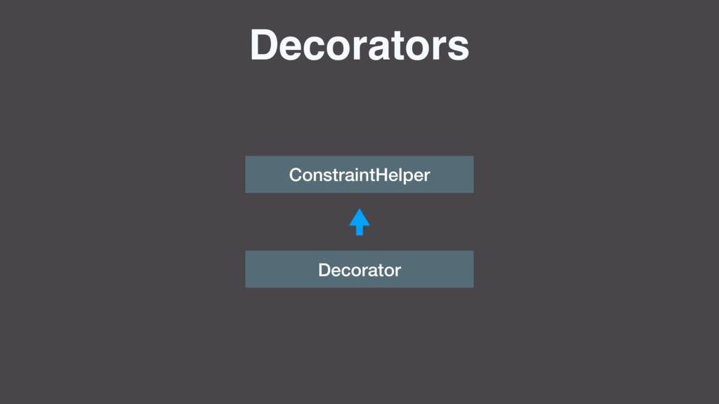 Decorators ConstraintHelper Decorator
