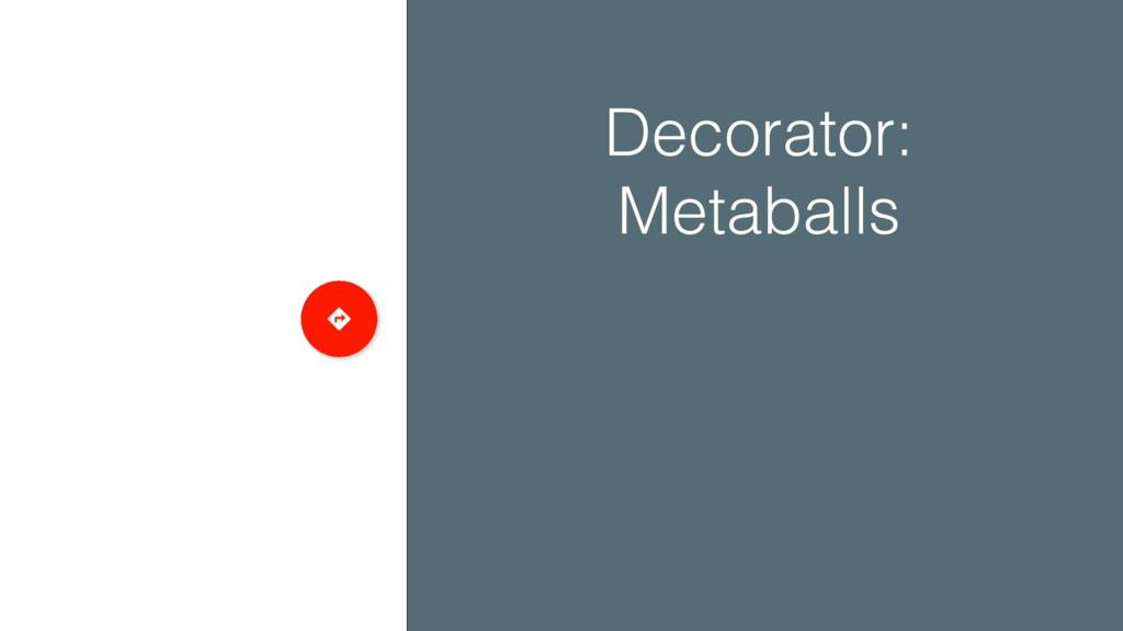 Decorator: Metaballs