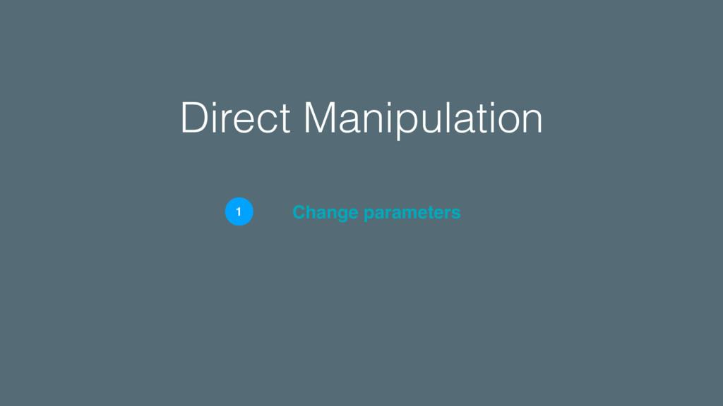 Direct Manipulation Change parameters 1
