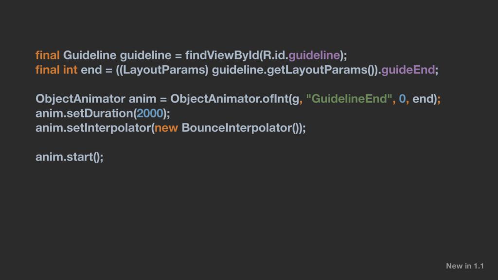 final Guideline guideline = findViewById(R.id.gui...
