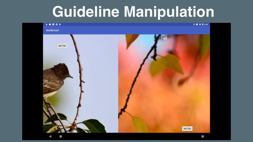 Guideline Manipulation