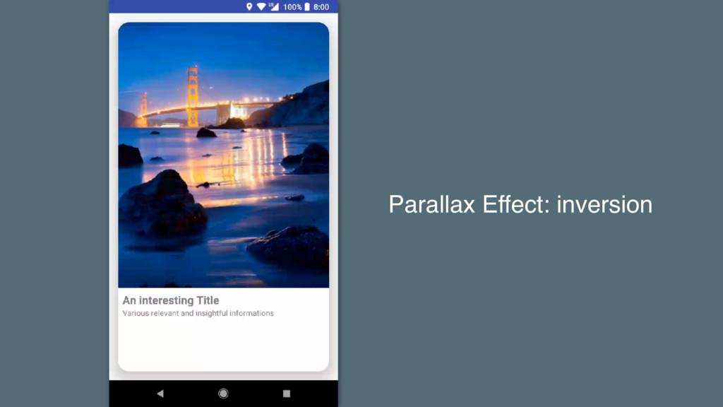 Parallax Effect: inversion