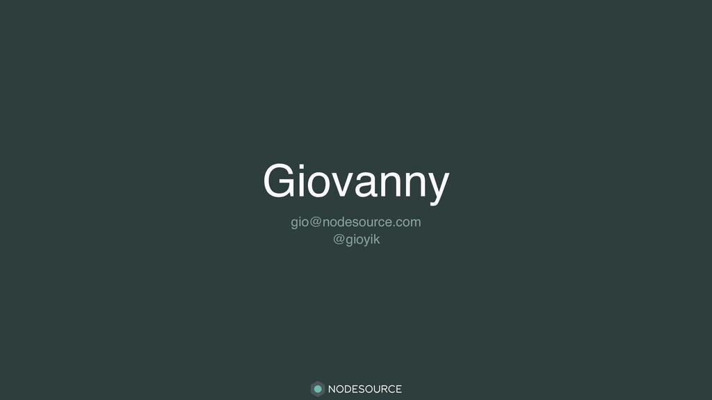 Giovanny gio@nodesource.com @gioyik
