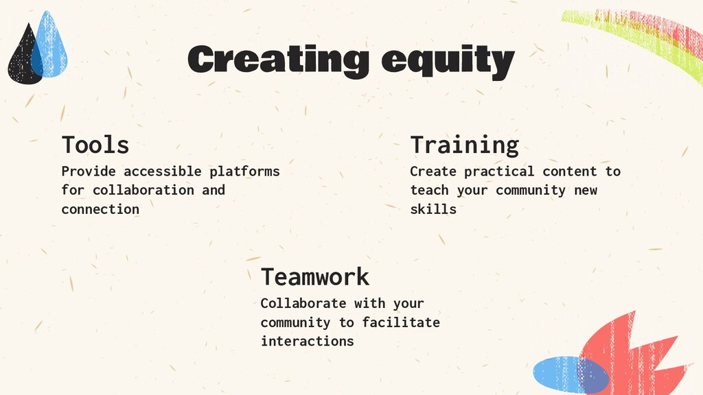 Provide accessible platforms for collaboration ...