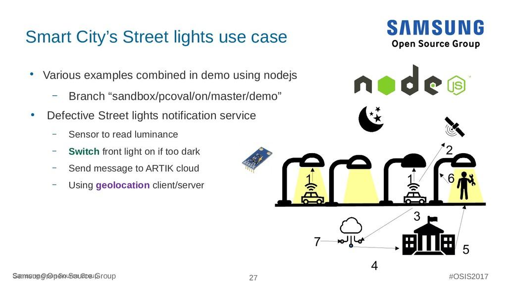27 Samsung Open Source Group #OSIS2017 Smart Ci...