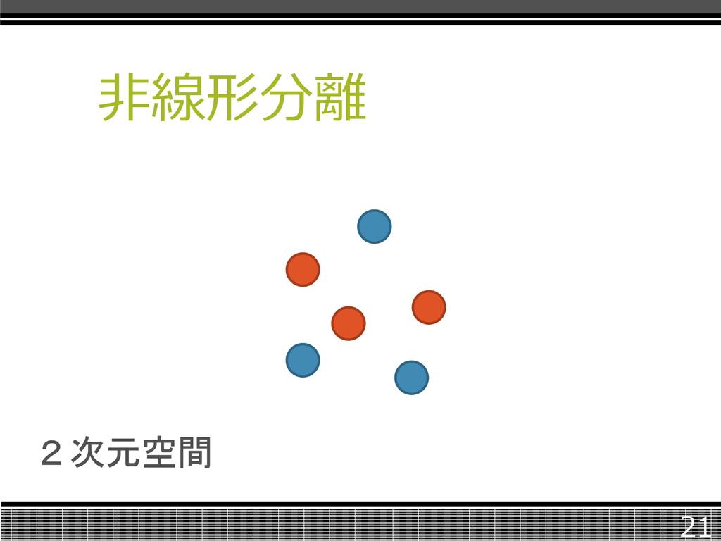 非線形分離 21 2次元空間
