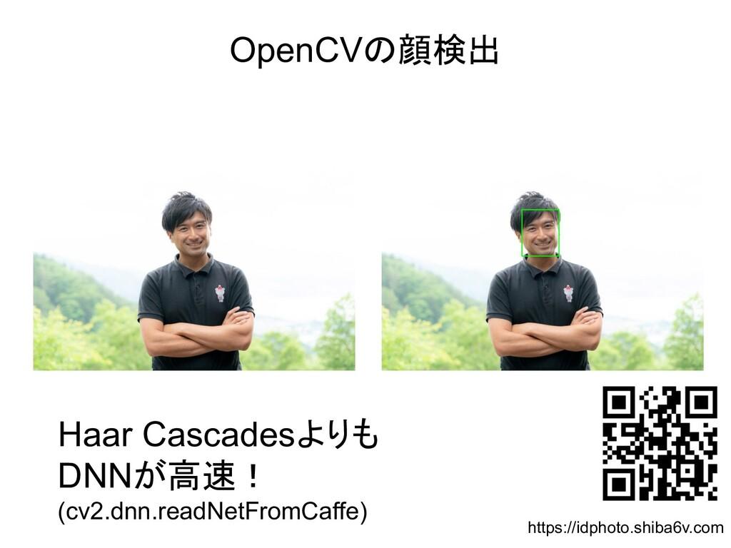 OpenCVの顔検出 Haar Cascadesよりも DNNが高速! (cv2.dnn.re...