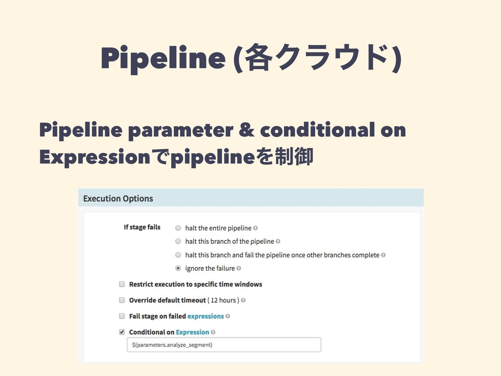 Pipeline (֤Ϋϥ΢υ) Pipeline parameter & condition...