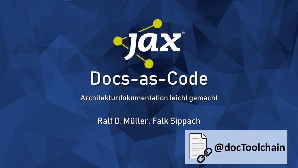 Docs-as-Code Architekturdokumentation leicht ge...