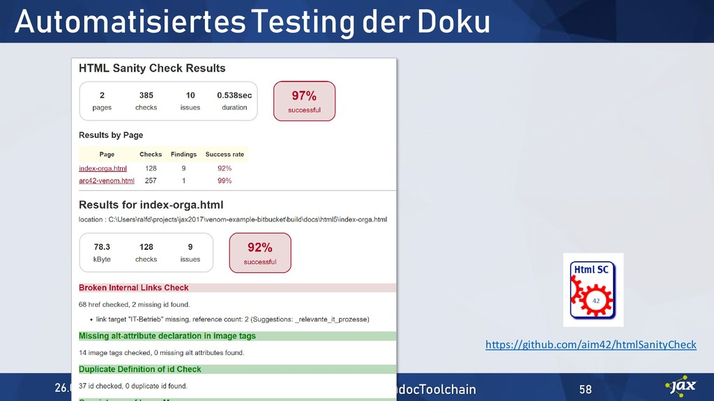 Automatisiertes Testing der Doku https://github...