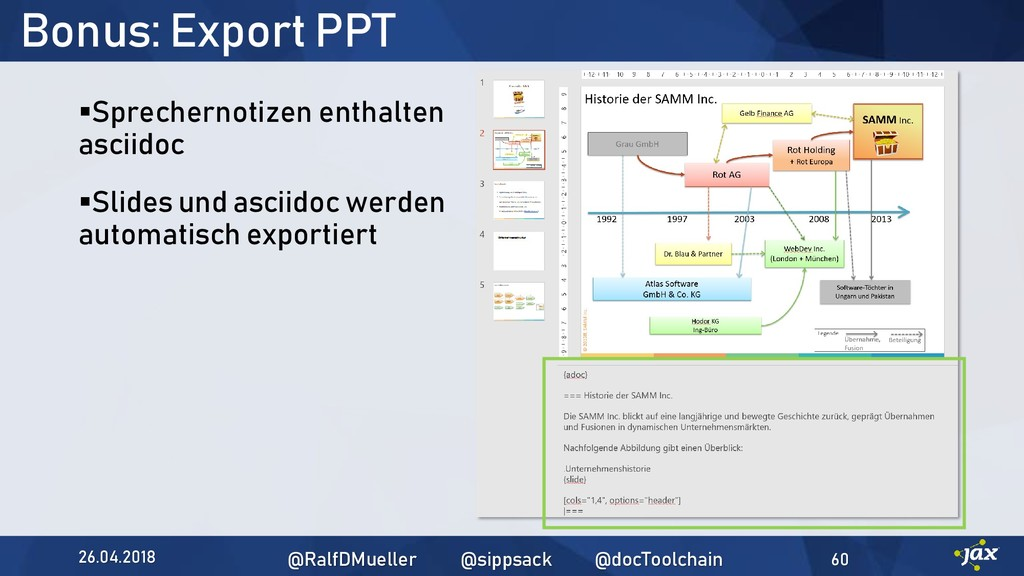 Bonus: Export PPT ▪Sprechernotizen enthalten as...