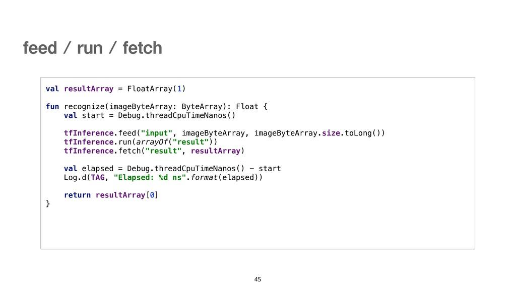 val resultArray = FloatArray(1) fun recognize(i...