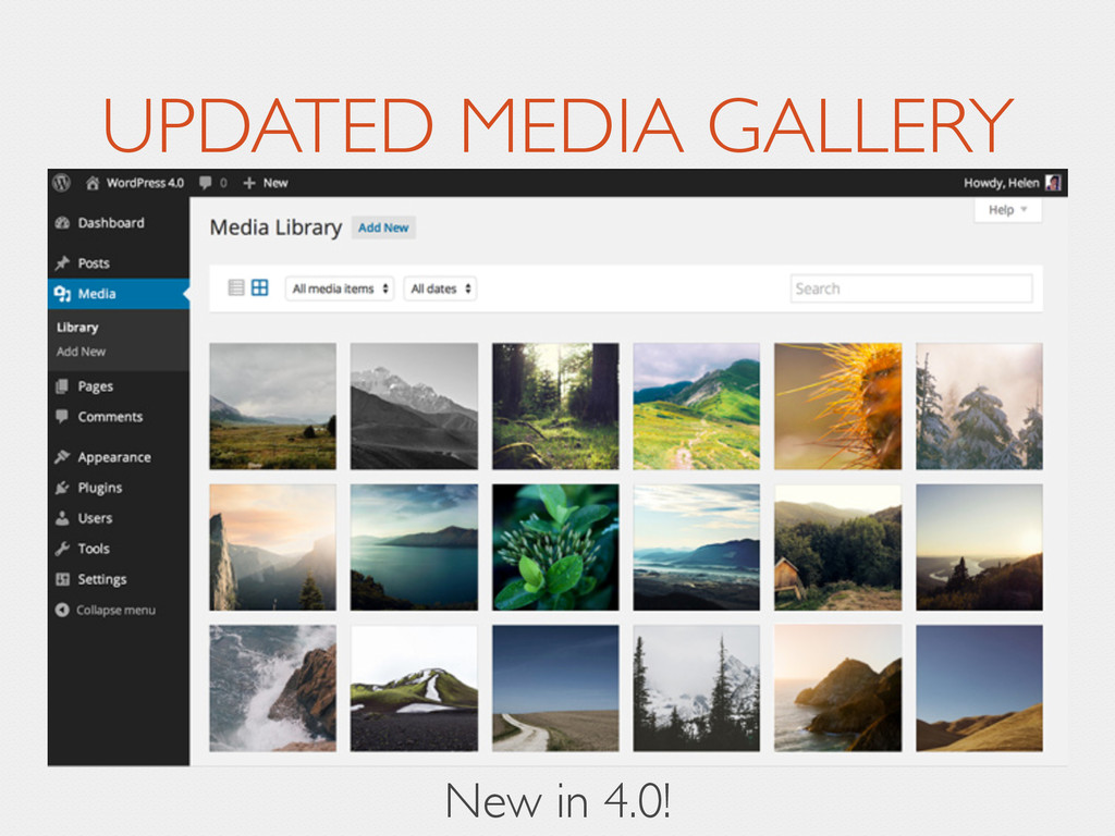 UPDATED MEDIA GALLERY New in 4.0!