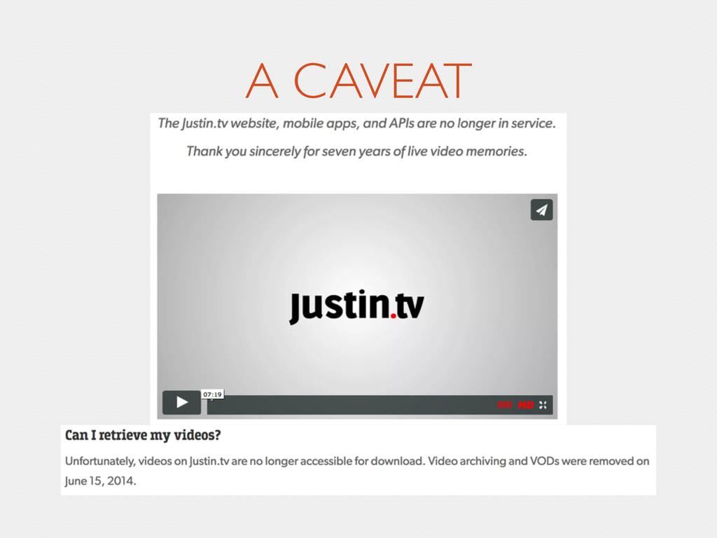 A CAVEAT