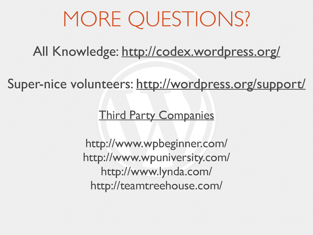 MORE QUESTIONS? All Knowledge: http://codex.wor...