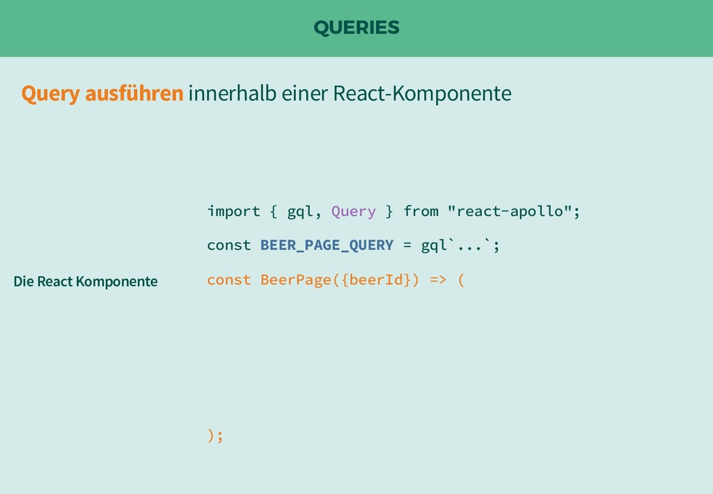 "QUERIES import { gql, Query } from ""react-apoll..."