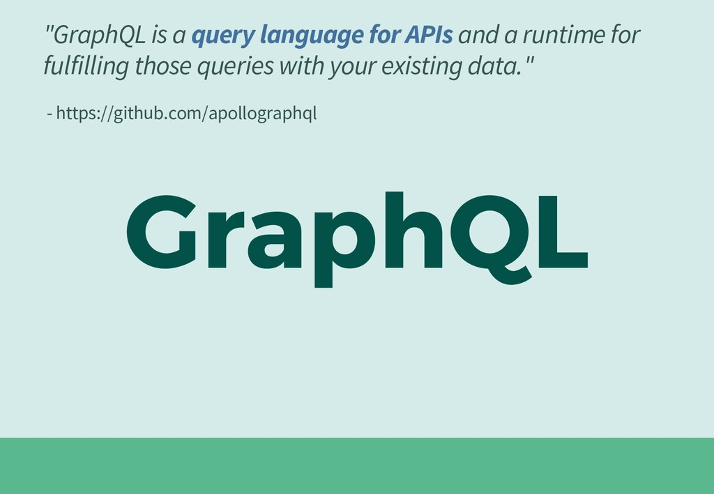 """GraphQL is a query language for APIs and a run..."