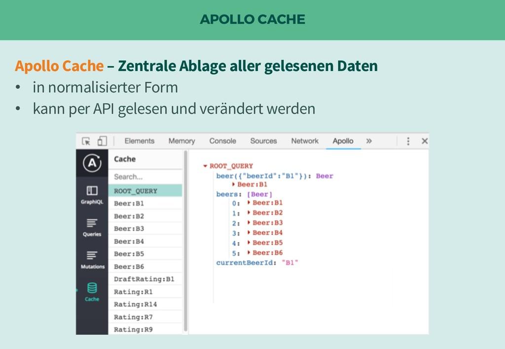 APOLLO CACHE Apollo Cache – Zentrale Ablage all...