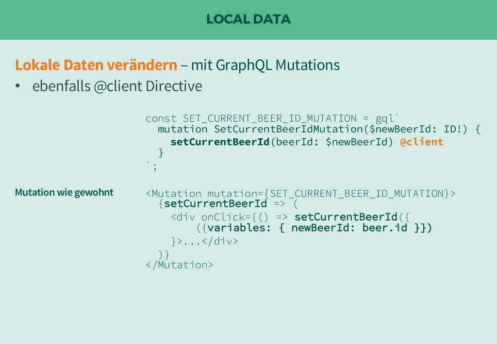 LOCAL DATA const SET_CURRENT_BEER_ID_MUTATION =...
