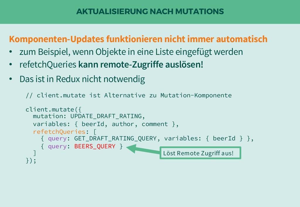 AKTUALISIERUNG NACH MUTATIONS Komponenten-Updat...