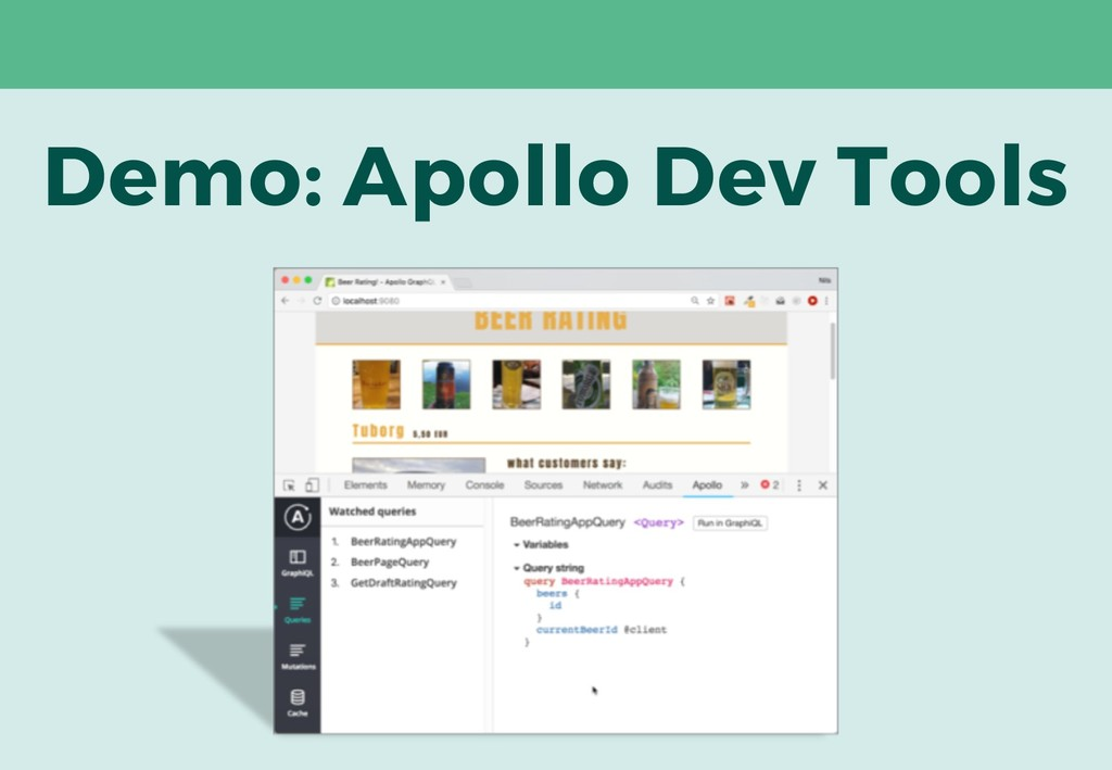 Demo: Apollo Dev Tools