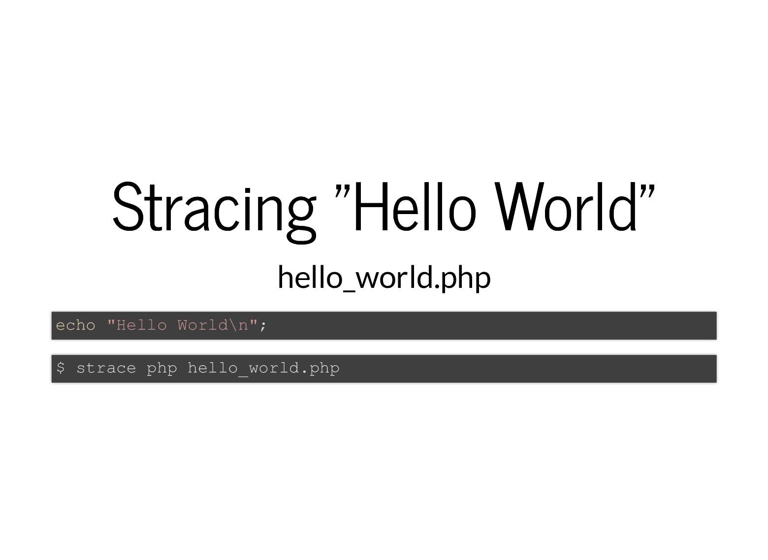 "Stracing ""Hello World"" Stracing ""Hello World"" h..."