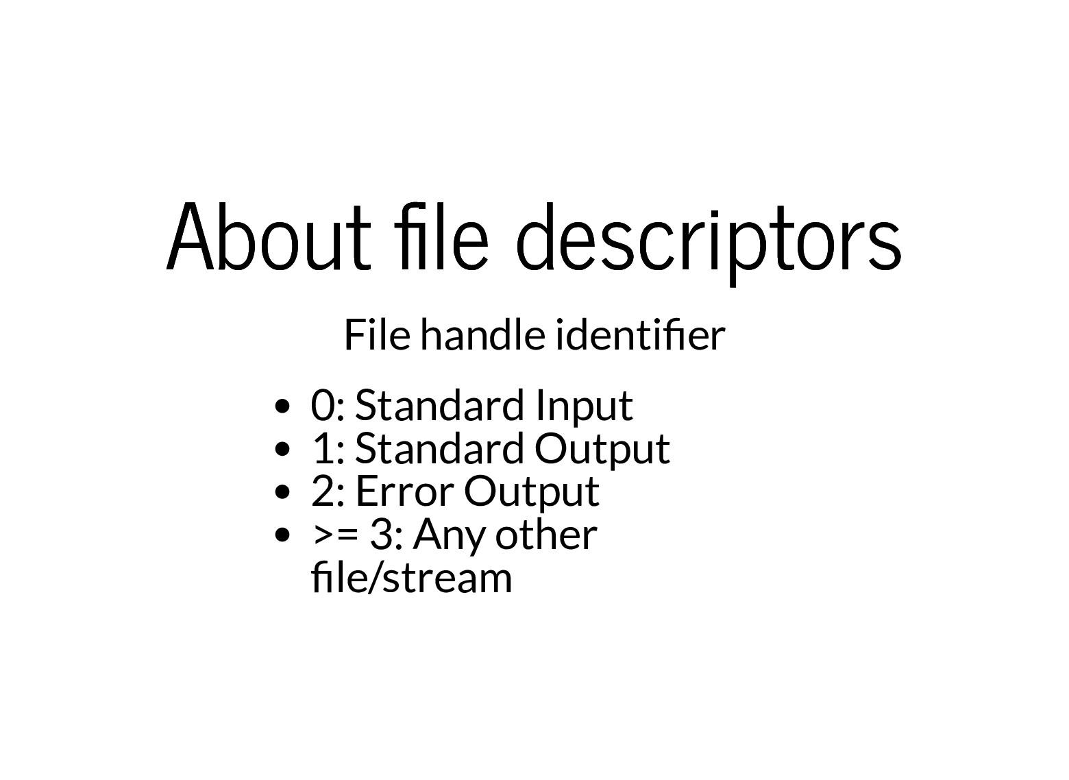 About le descriptors About le descriptors File ...