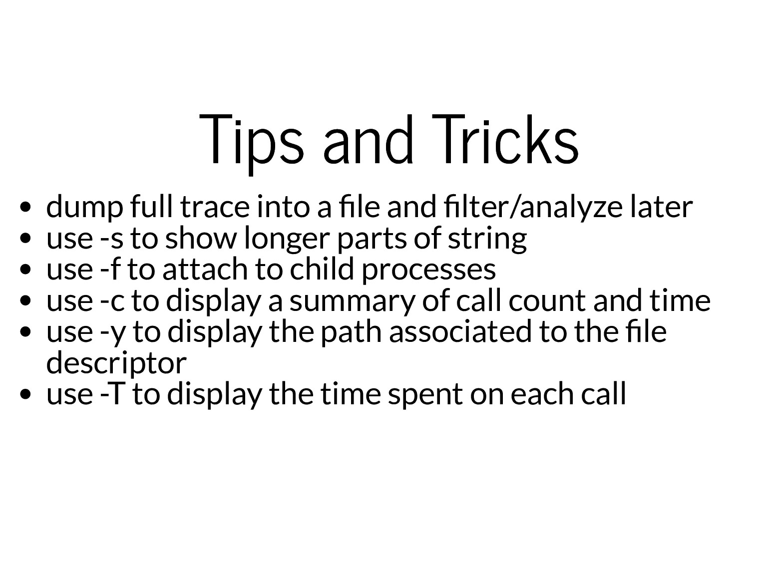 Tips and Tricks Tips and Tricks dump full trace...