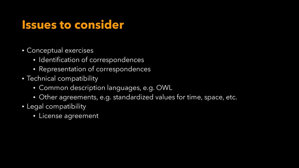 Issues to consider • Conceptual exercises • Ide...